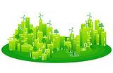 エコ 町並み 街 環境 壁紙 イラスト[1240626] - イラスト素材